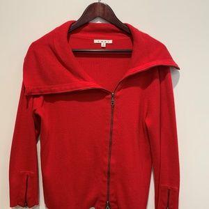 CAbi Asymmetrical Red Sweater